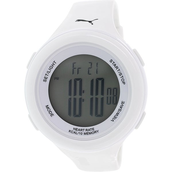 Puma Men's Fit PU910961002 White Rubber Quartz Watch