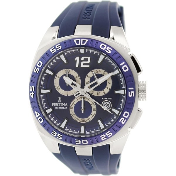 Festina Men's F16668/2 Blue Rubber Analog Quartz Watch