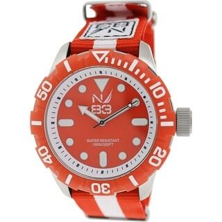 Nautica Men's Nsr 100 N09645G Red Nylon Quartz Watch