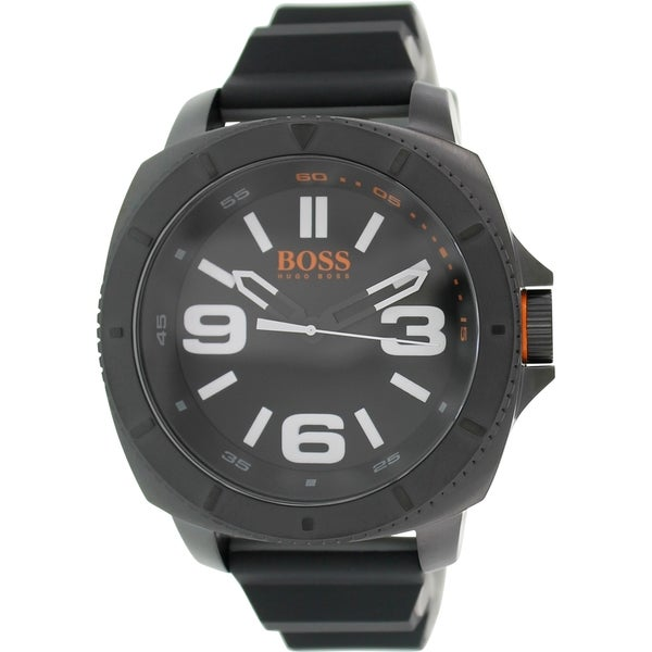 Hugo Boss Men's Sao Paulo 1513106 Black Silicone Analog Quartz Watch