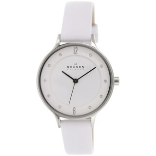 Skagen Women's Anita SKW2145 White Leather Quartz Watch