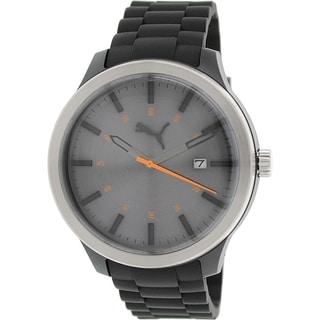 Puma Men's Essential PU103612001 Black Silicone Analog Quartz Watch