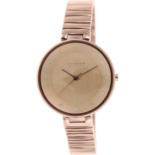 Skagen Women's Gitte SKW2227 Rose Goldtone Stainless Steel Quartz Watch