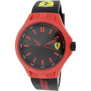 Ferrari Men's Pit Crew 0830194 Black Rubber Quartz Watch