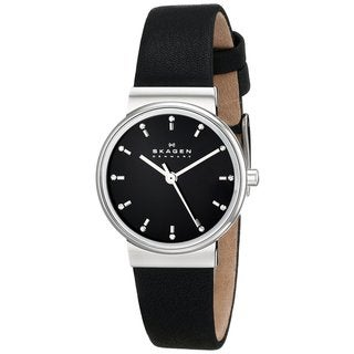 Skagen Women's Ancher SKW2193 Black Leather Quartz Watch