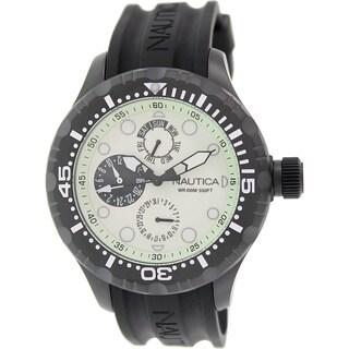 Nautica Men's Bfd 100 NAD17502G Black Rubber Quartz Watch