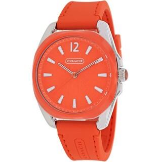 Coach Women's 14501917 Teagan Round Orange Strap Watch