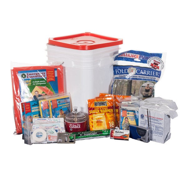 Emergency Essentials 1-Person Emergency Kit Bucket