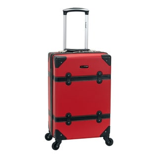 Rockland 20-inch Vintage Trunk Carry On Spinner Upright Luggage