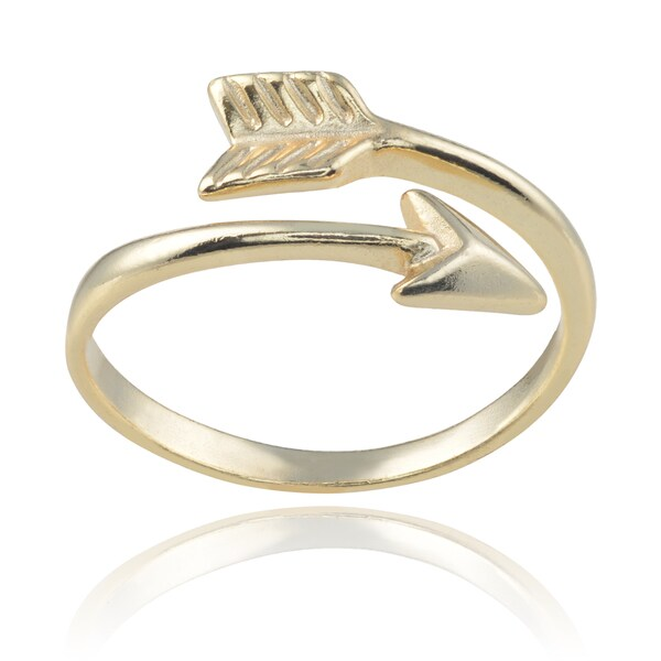 Journee Collection Sterling Silver Arrow Ring
