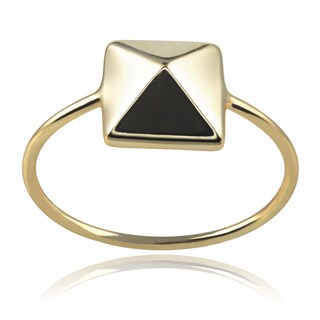 Journee Collection Sterling Silver Pyramid Ring