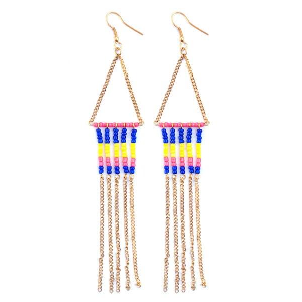Albuquerque Blue Ethnic Earrings (India)