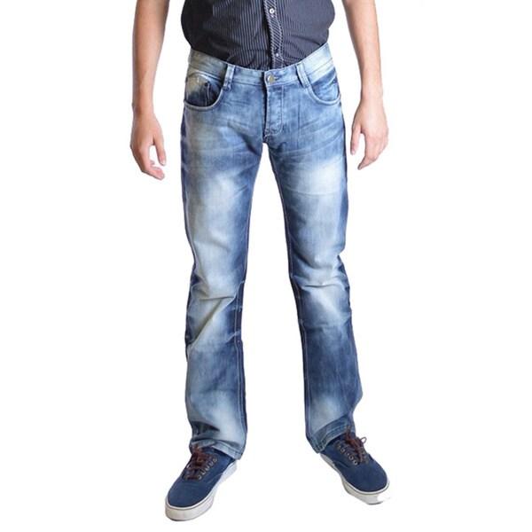 Dinamit Men's Modern Wash Slim Straight Leg Jeans