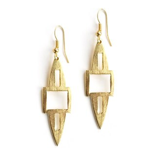 Goldtone Spear Earrings (India)