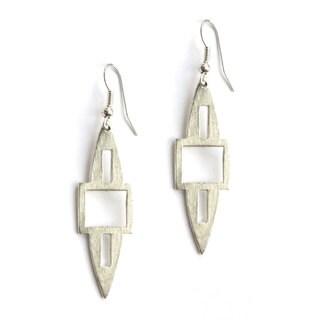Silvertone Spear Earrings (India)