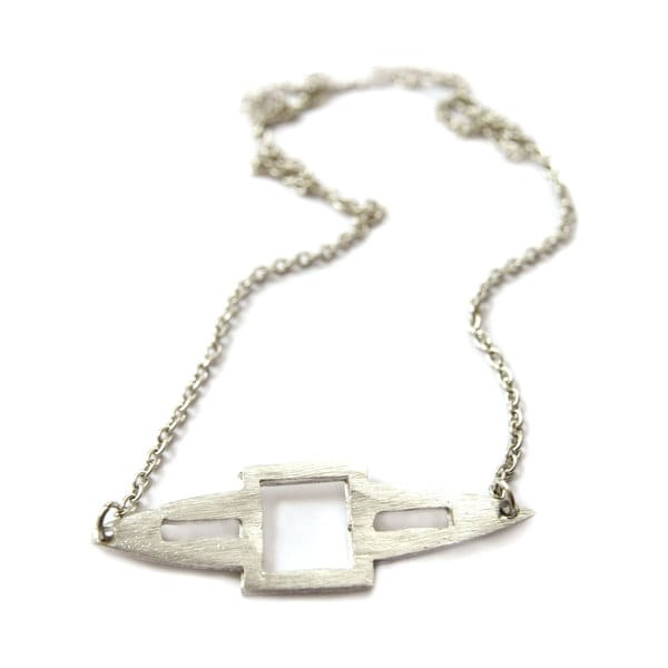 Silvertone Spear Necklace (India)