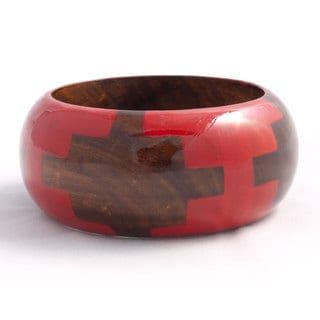 Red Wooden Wilderness Bangle (India)
