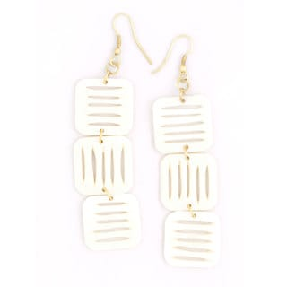 Stacked Squares Bone Earrings (India)