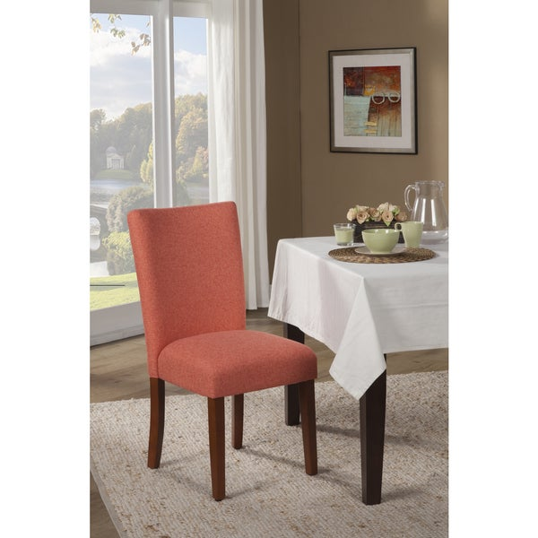 HomePop Mango Coral Textured Parson Chair (Set of 2)