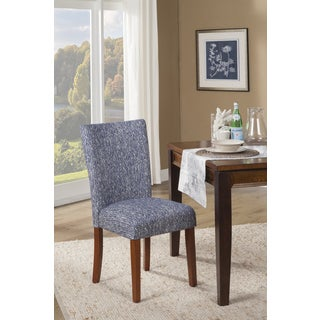 HomePop Blue Etched Woven Parson Chair (Set of 2)