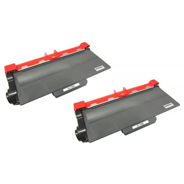 TN750 Black Toner Cartridge for Brother Printers (Pack of 2)