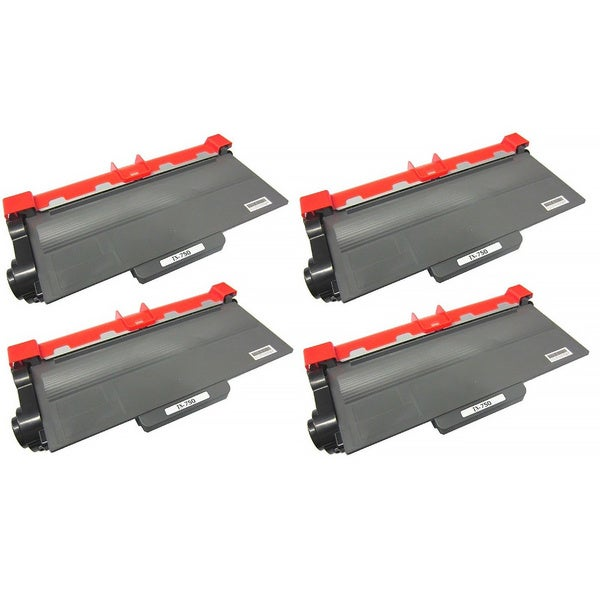 TN750 Black Toner Cartridge for Brother Printers (Pack of 4)