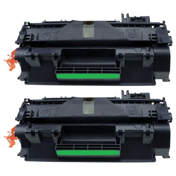 CE505X Black Toner Cartridge for HP Printers (Pack of 2)