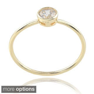Journee Collection Sterling Silver Cubic Zirconia Solitaire Ring