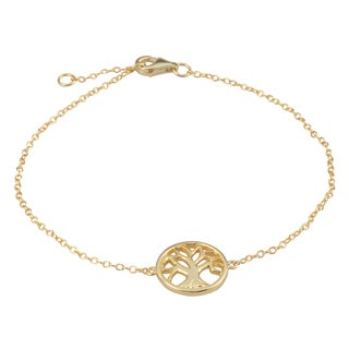 Journee Collection Sterling Silver Round Tree Bracelet
