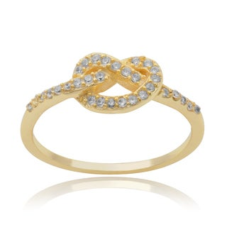 Journee Collection Sterling Silver Cubic Zirconia Knot Ring