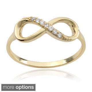 Journee Collection Sterling Silver Cubic Zirconia Infinity Ring