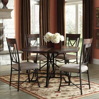 Signature Design by Ashley Hammis Round Table and Upholstered Side Chairs