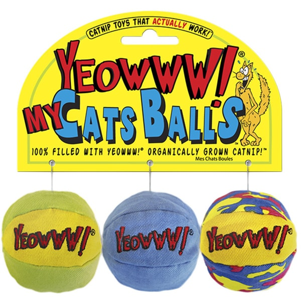 Yeowww! My Cats Balls Cat Toys (3 Pack)