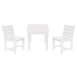 Eagle One 3-piece White Greenwood Kids Dining Set with Chairs