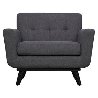 James Grey Linen Chair