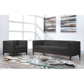 Gavin Grey Linen Chair