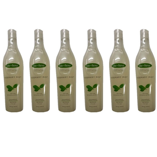 De-luxe Rosemary Mint 14-ounce Shampoo (Pack of 6)