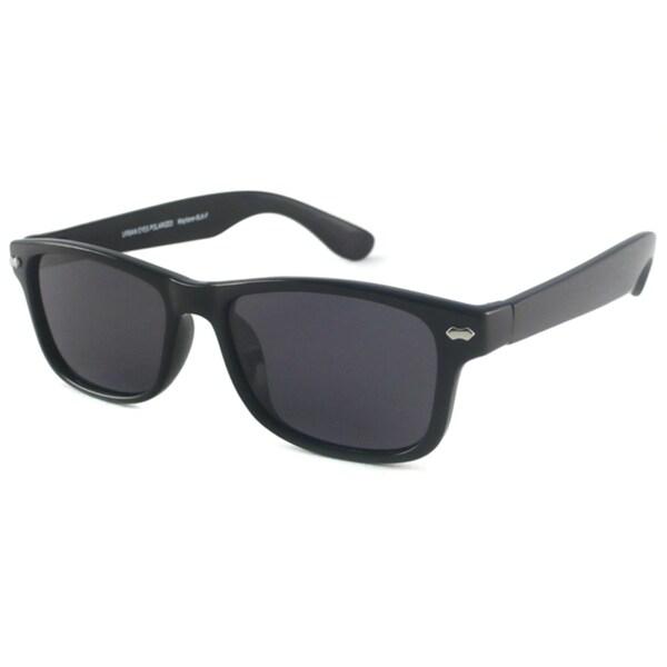Urban Eyes Retro Polarized Rectangular Sunglasses with Black Frame (As Is Item)