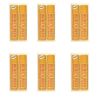 Burt's Bees Lip Balm 2 Tubes (Pack of 6)