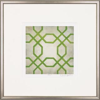 Green Classical Symmetry Framed Art Print