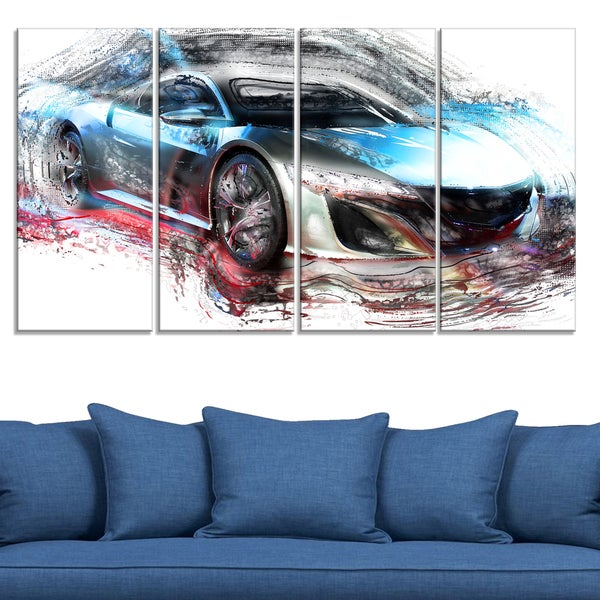 Exotic SuperCar Large Gallery Wrapped Canvas