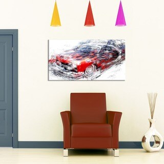 American Burn Out Car Art Small Gallery Wrapped Canvas