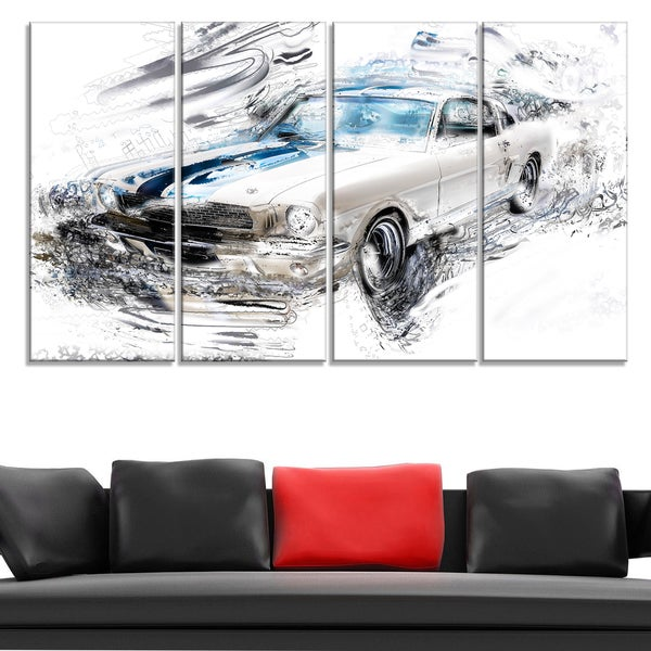 Super Charged American Classic Large Gallery Wrapped Canvas