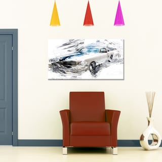 Super Charged American ClassicSmall Gallery Wrapped Canvas
