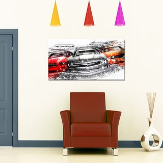 American Street Race Small Gallery Wrapped Canvas