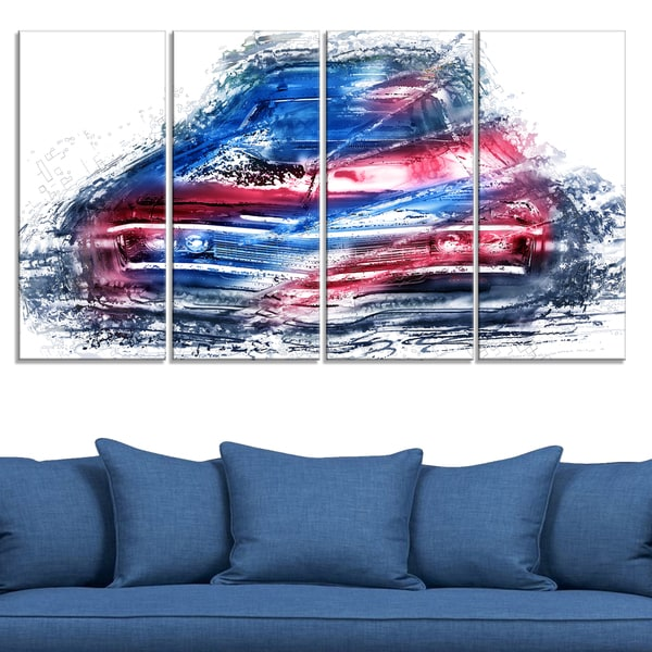 Classic Low Rider Large Gallery Wrapped Canvas