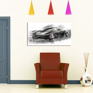 Black Sports Car Small Gallery Wrapped Canvas