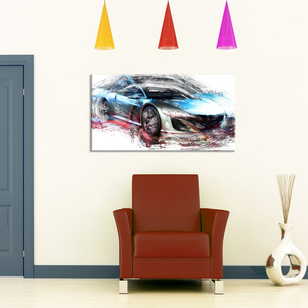 Exotic SuperCar Small Gallery Wrapped Canvas