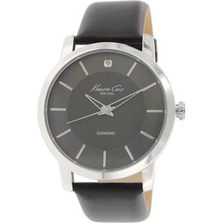 Kenneth Cole Men's KC8069 Dark Grey Leather Quartz Watch