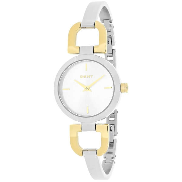 DKNY Women's NY8609 Silvertone Stainless Steel Analog Quartz Watch